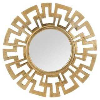 Greek Wall Mirror, Antiqued Gold - One Kings Lane