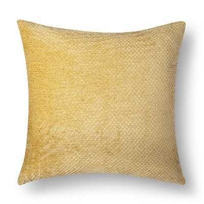 "Westfield Chenille Toss Pillow, Gold, 18"" x 18"", Polyester fill - Target"