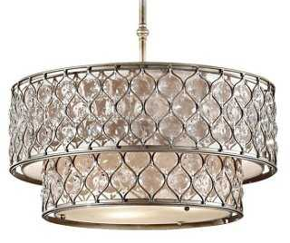 Lucia Chandelier, Burnished Silver - One Kings Lane