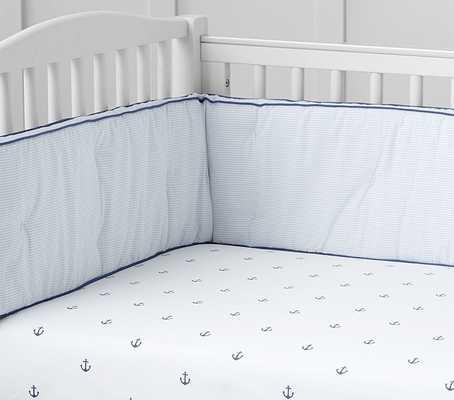 Nantucket Palm Organic Nursery Bedding -  Crib Fitted Sheet - Pottery Barn Kids