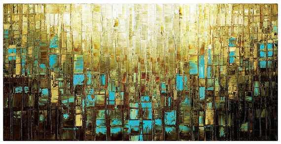 """Abstract Art - 30"""" x 60"""" - Unframed - Etsy"""