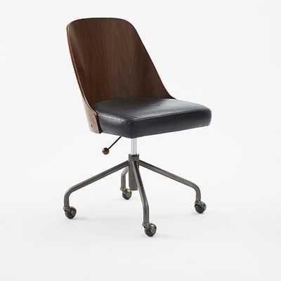 Bentwood Office Chair-Black - West Elm