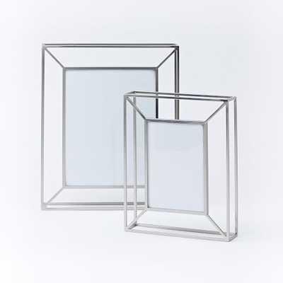 "Umbra Matrix Frame - Nickel-8""x10"" - West Elm"