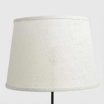 Marshmallow White Burlap Table Lamp Shade - World Market/Cost Plus