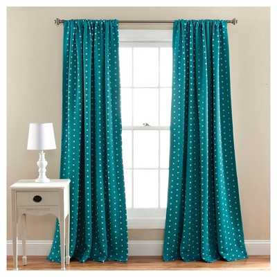 Polka Dot Room Darkening Curtain Panels - Target