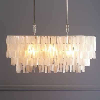 Large Rectangle Hanging Capiz Chandelier - West Elm