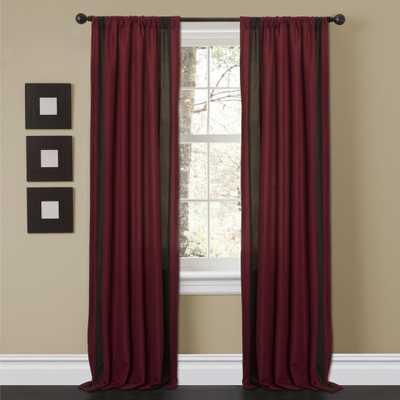 Lush Decor 'Charming Sand' 84-inch Curtain Panel Pair - Overstock