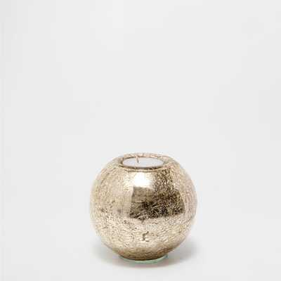 GOLDEN MERCURIZED GLASS CANDLE HOLDER - Zara Home