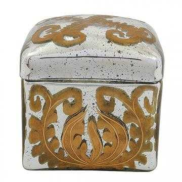 Aby Mercury Glass Decorative Box - Home Decorators