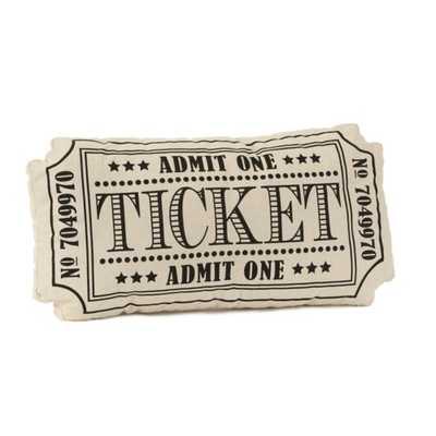 Black Movie Ticket Pillow - kirklands.com