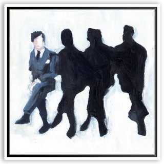 Lisa Golightly, Four Men on a BenchFavorite - 40x40, Framed - One Kings Lane