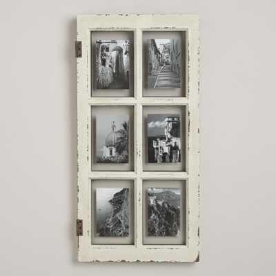 "White Windowpane Frame-14.5""x30""-White - World Market/Cost Plus"