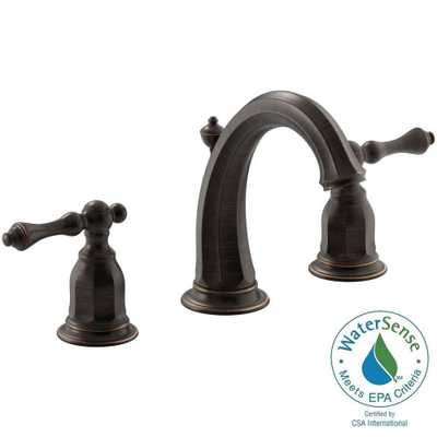 Kelston 8 in. Widespread 2-Handle Bathroom Sink Faucet in Oil-Rubbed Bronze - Home Depot
