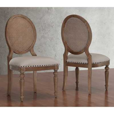 Elements Weathered Oak Cane Back Dining Chairs (Set of 2) - Overstock