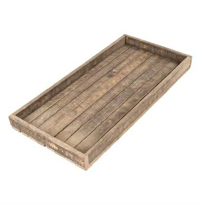 Homestead Rustic Lodge Reclaimed Wood Long Tray - Kathy Kuo Home