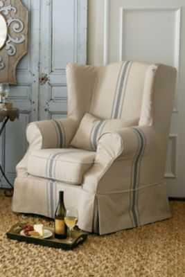 Slipcovered Tristan Chair - softsurroundings.com