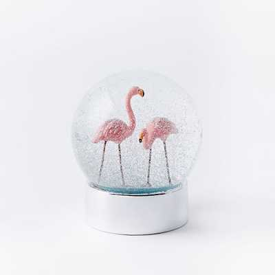 Summer Snow Globes - Flamingo - West Elm