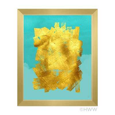 Abstract Framed Painting Print - 13x11 - AllModern