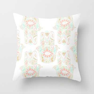 "Hamsa hand of fatima Indoor Pillow - 18"" x 18"" - Down Insert - Society6"