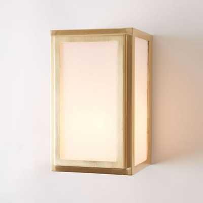Classic Cubic Flushmount + Sconce - Rectangle - Antique Brass - West Elm