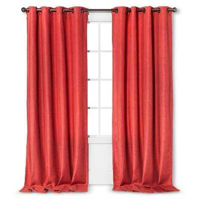 "Basketweave Curtain Panel - Coral Starfish - 54""W x 84""L - Target"