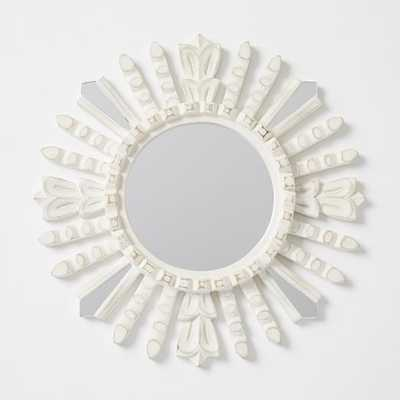 Peruvian Artisan Mirrors - White Circle - West Elm