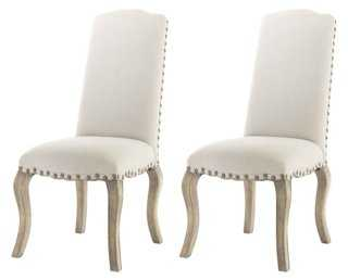 Pine Cecilia Dining Chairs, Pair - One Kings Lane