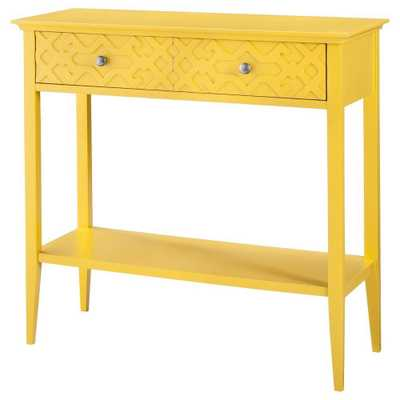 Console Table: Fretwork Console Table yellow -Threshold, Summer Wheat - Domino