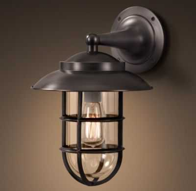 STARBOARD SCONCE WITH SHADE - Small, Bronze - RH