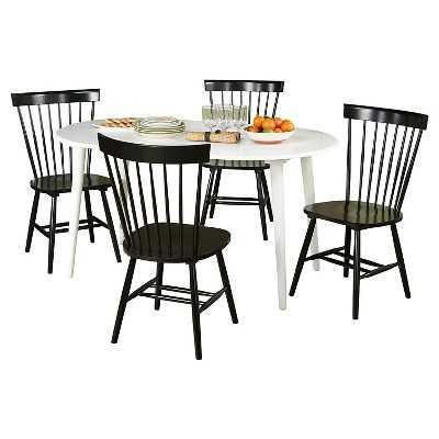 5 Piece Naples Oval Dining Set - Black - Target
