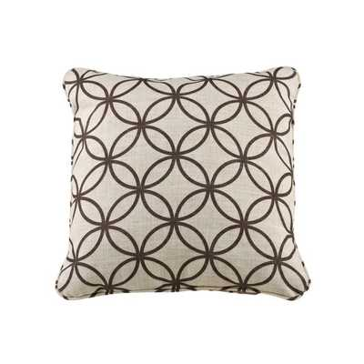 "Rippavilla Bark Throw Pillow - Brown - 20""x20"" - Cotton fill insert - Overstock"