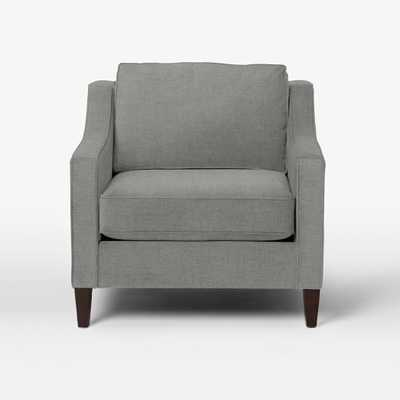 Paidge Chair - Brushed Heathered Cotton, Gray Haze - West Elm