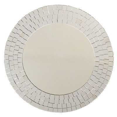 Round Mosaic Wall Mirror - Silver - Target