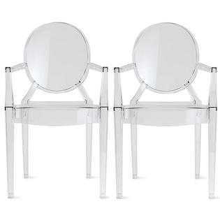 Homelala Set of Two (2) - Clear Chairs - sears.com