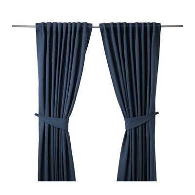 BLEKVIVA Curtains with tie-backs - Ikea