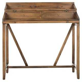 Elgin Writing Desk, Oak - One Kings Lane