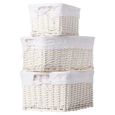 Bertram 3 Piece Basket Set - Wayfair