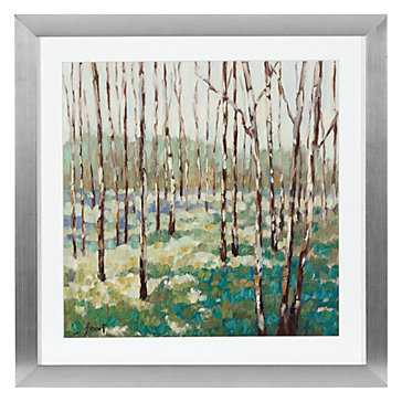 Blue Green Trees - 27''W x 27''H  - Framed - Z Gallerie