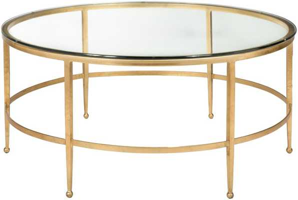 Edmund Round Cocktail Table Gold - Tressle