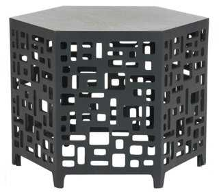 Amina End Table, Dark Gray - One Kings Lane