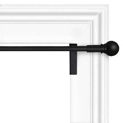 Twist & Shout Curtain Rod - Black - Target