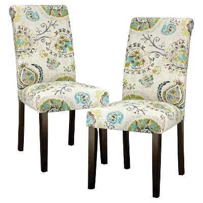 Avington Print Accent Dining Chair Wood - Skyline - Target
