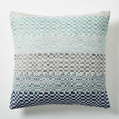 """Dobby Stripe Pillow Cover - Light Pool -18""""sq - Insert sold separately - West Elm"""