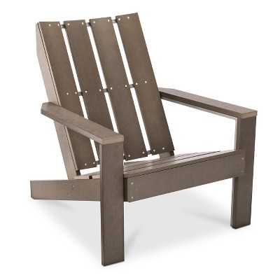 Bryant Faux Wood Patio Adirondack Chair - grey - Target