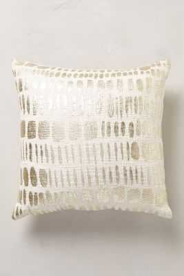 """Glowing Moonphase Pillow-Gold-Insert-18""""x18' - Anthropologie"""