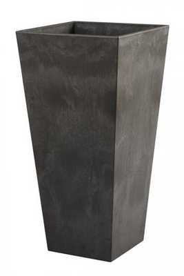 ELLA SQUARE PLANTER - BlacK - Home Depot