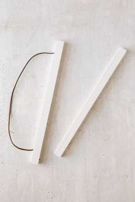 """24"""" Wooden Print Dowel Hanger, White - Urban Outfitters"""