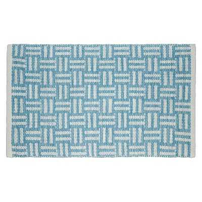 """24""""x36"""" Hand Woven Cotton Teal Accent Rug - Target"""