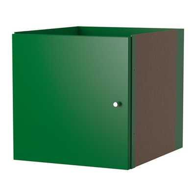 KALLAX Insert with door, green - Ikea