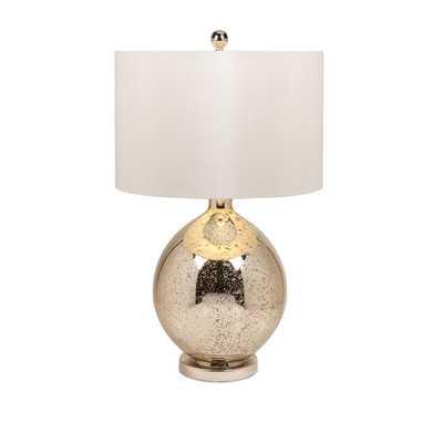 "Avignon Mercury 30"" H Table Lamp with Drum Shade - Wayfair"
